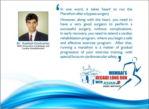 Dr. Aashish Contractor shares his thoughts on what it takes to run a Marathon after going through a Bypass Surgery.