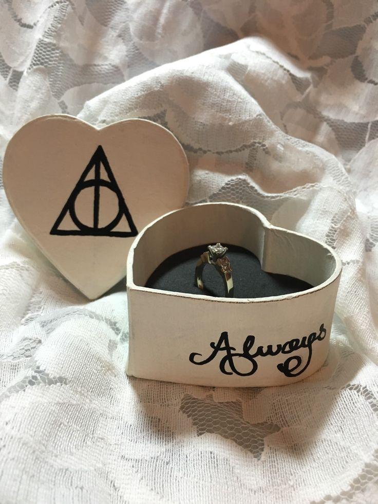harry potter inspired ring box by glasscarriagedesign on etsy - Harry Potter Wedding Rings