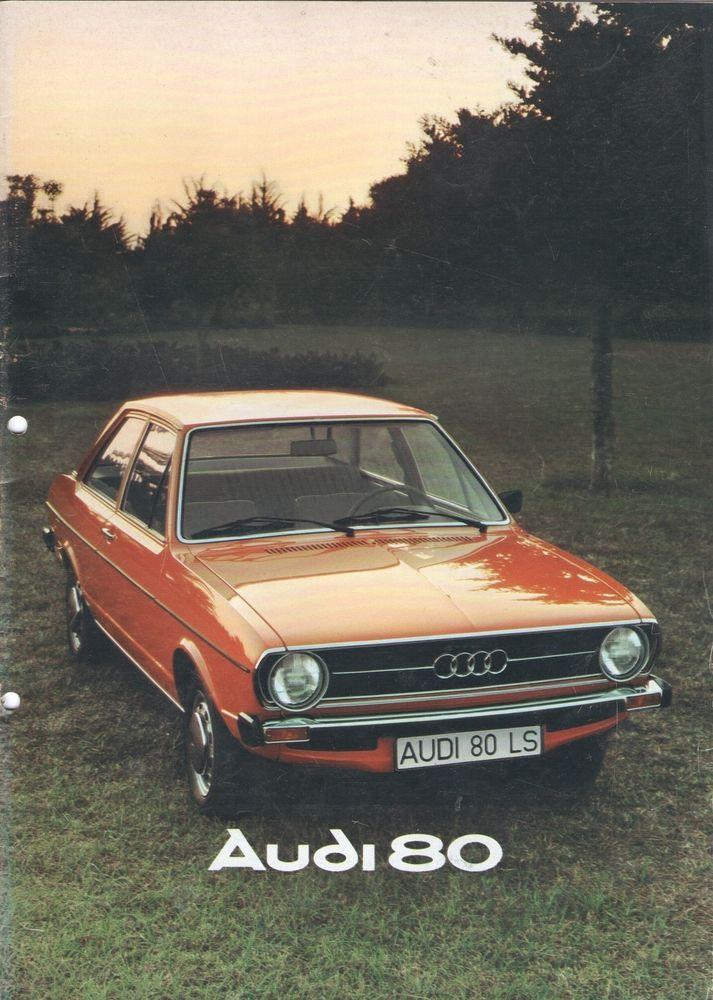 AUDI - 80 full brochure/folder Dutch 1976