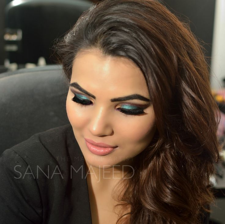 Beautiful bollywood inspired eyemakeup by Sana Majeed. www.sanamajeed.com