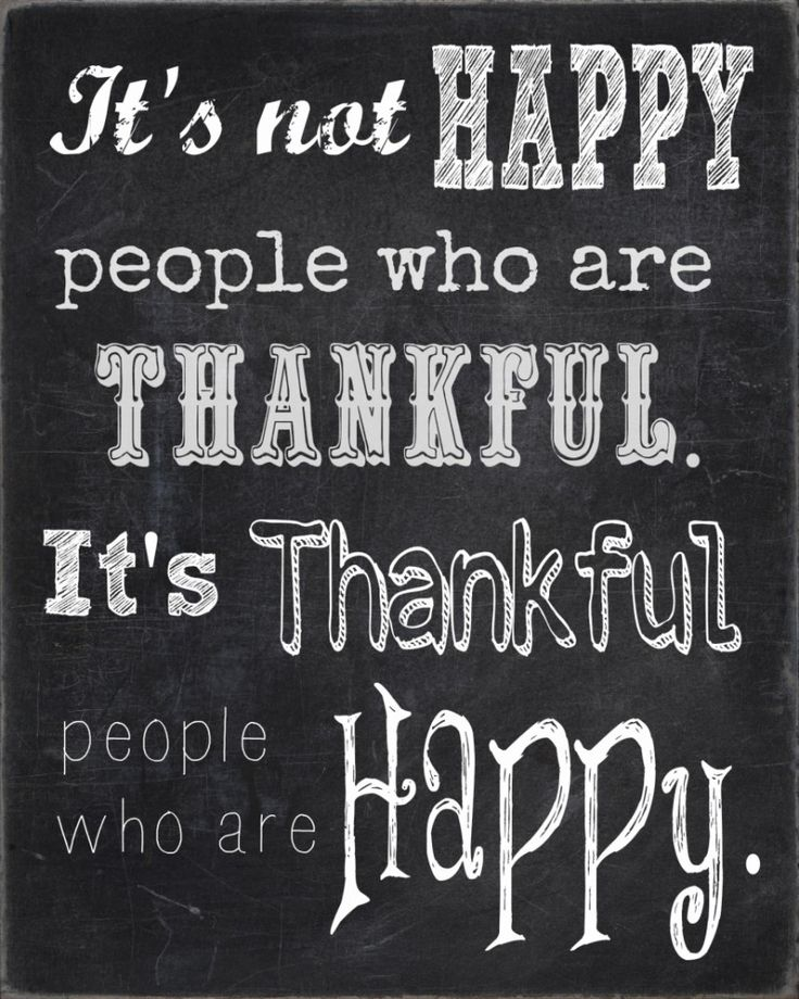 It's Not Happy People Who Are Thankful Free Printable | Endlessly Inspired