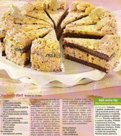 Ořechový dort 1