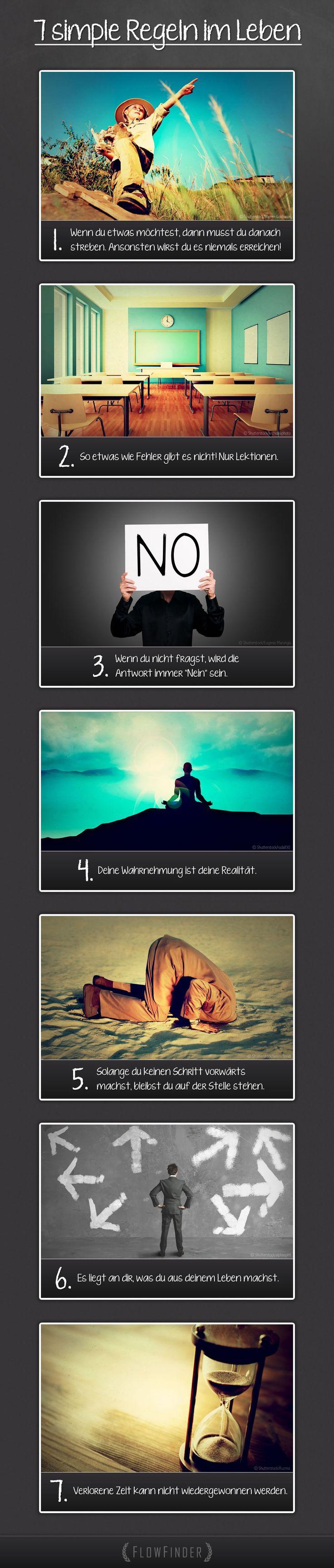 7 simple Regeln im Leben