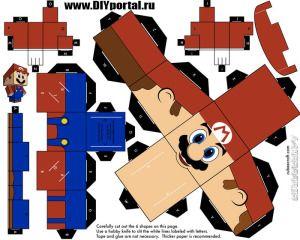 Шаблон для бумажной модели Супер Марио