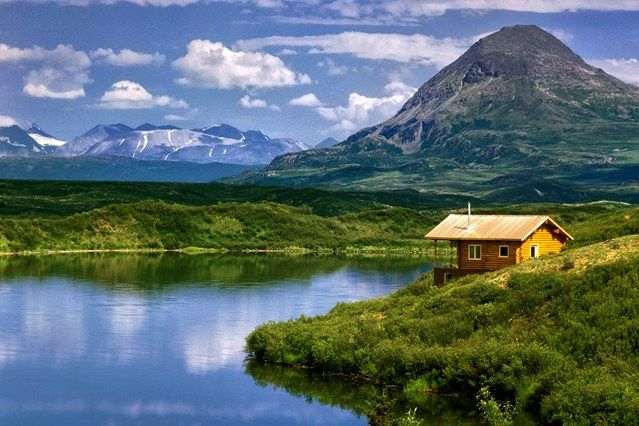 25 best luxury log cabins images on pinterest luxury log for Luxury homes in alaska