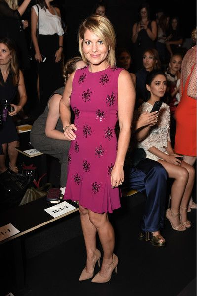 Candice Cameron Bure attends the Jenny Packham fashion show during New York Fashion Week.