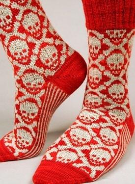 skull socks!