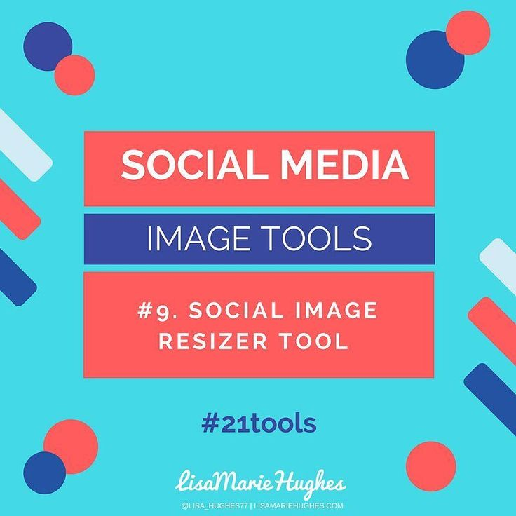 Social Media Image Tools: #9 Social Image Resizer Tool You will need to resize images for certain social network platforms.  If you are uploading to Facebook it's best to use a square image but if it's Pinterest it's best to create a vertical image.  With this tool you don't have to create a new image for each social network platform just use the 'Social Image Resizer Tool'. The best thing is that you don't even need to know the sizes required when using the tool.  Just upload the image and…