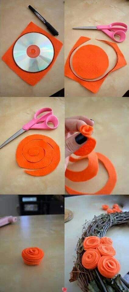 Rosettes - imagine with duct tape or any seasonal fabric