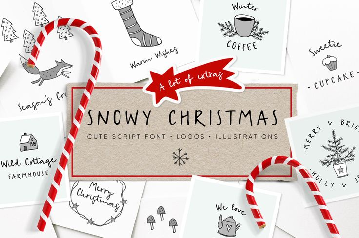 Christmas script font and logo creator