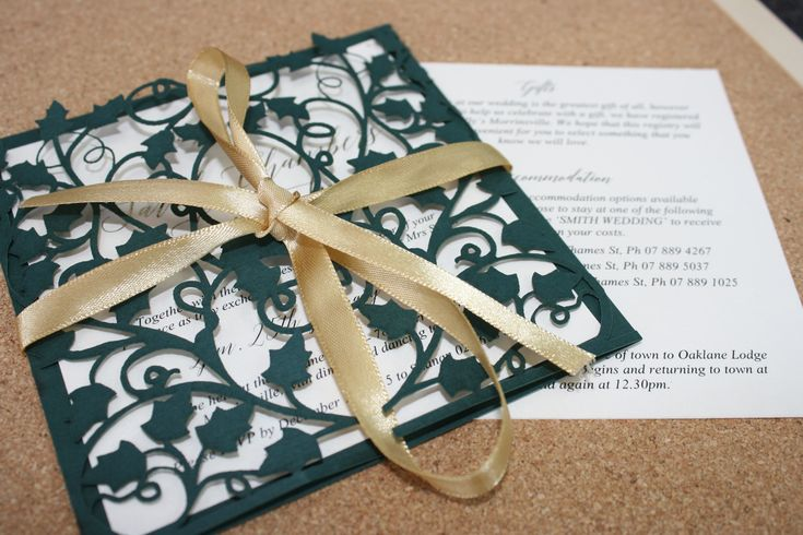 Vine / Nature themed Laser Cut Wedding Invitation with Gold Foiled names designed by Imagine If Creative Studios