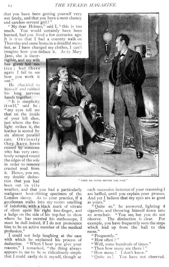 Sidney Paget - A Scandal in Bohemia (1) - The Adventures of Sherlock Holmes - Strand Magazine - 1891/2