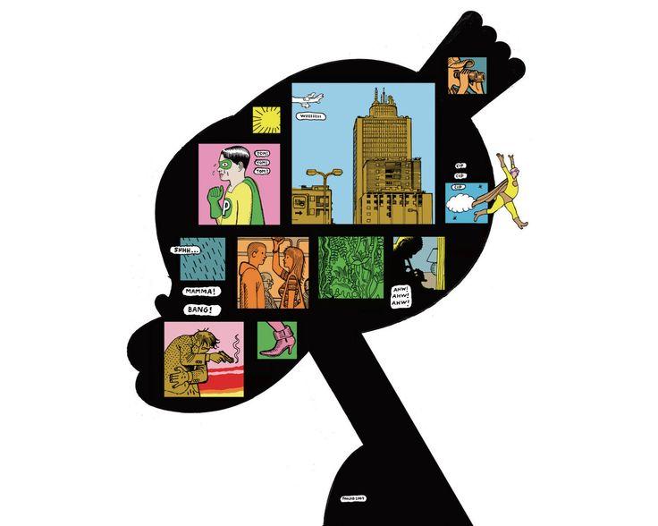 Poster ufficiale del festival BilBOlbul 2010 di Paolo Bacilieri