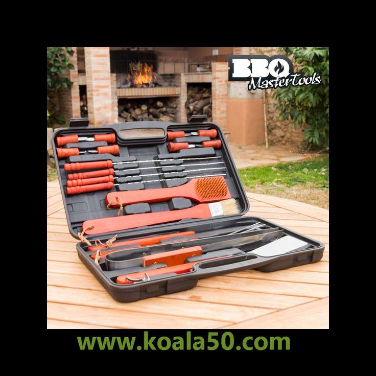 Maletín para Barbacoas BBQ Master Tools (18 piezas) - 12,56 €   Hacer una barbacoa con los familiares y amigos es de lo más divertido, pero no debes descuidar que es muy importante tener los utensilios necesarios para que no se convierta en un verdadero...  http://www.koala50.com/accesorios-de-cocina/maletin-para-barbacoas-bbq-master-tools-18-piezas