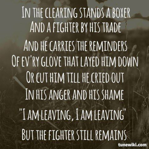 "-- #LyricArt for ""The Boxer"" by Simon & Garfunkel by kaitycochran"