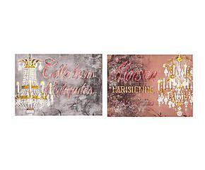 Set di 2 stampe su tela Chandelier - 50x70x3 cm
