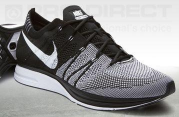Nike Flyknit Trainer+ - Black/White - Mens Running Shoes