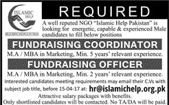 New Jobs in Islamic Relief 2 April 2017