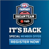 be part of our AFL Member Dream Team competition! http://www.aflmembership.com.au/members-zone/dream-team/
