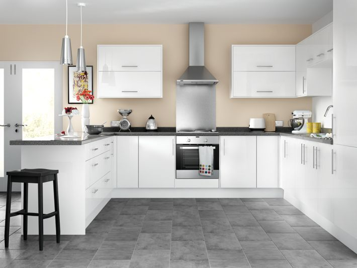 orlando white high gloss kitchen wickescouk