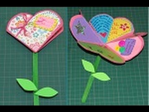 Manualidad para SAN VALENTIN: Carta de Corazón a Flor