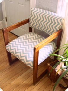Waiting room - recover cushions and maybe paint the wood for more of a rustic/coastal look
