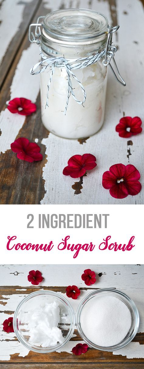 2 Ingredient Coconut Sugar Scrub
