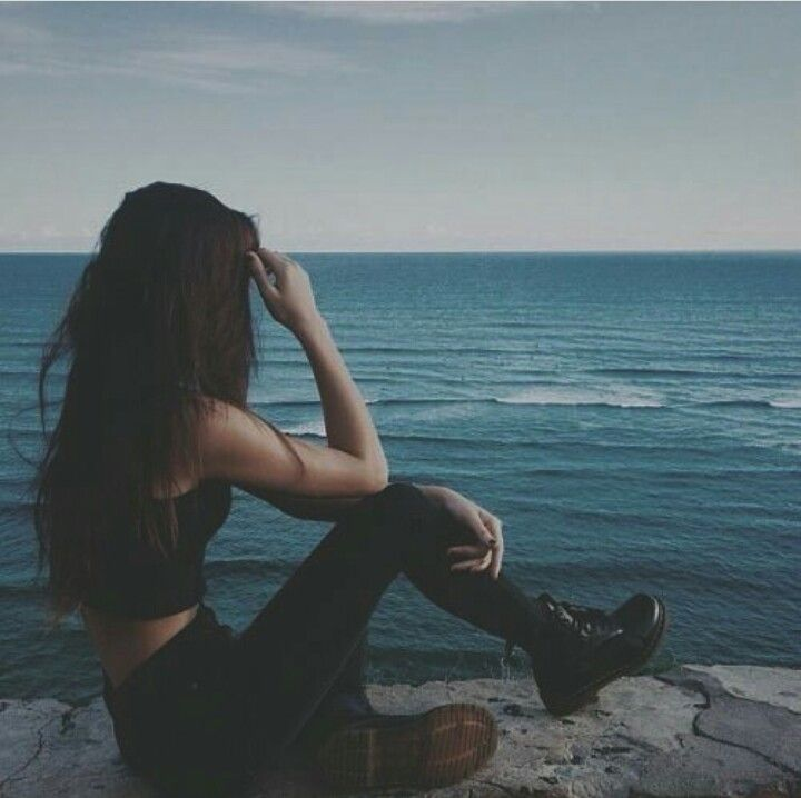 Cheyenne being moody on the beach  - Taken by Tara