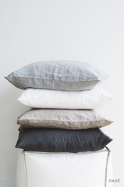 www.nest-direct.com  Soft stonewashed linen cushions by nest