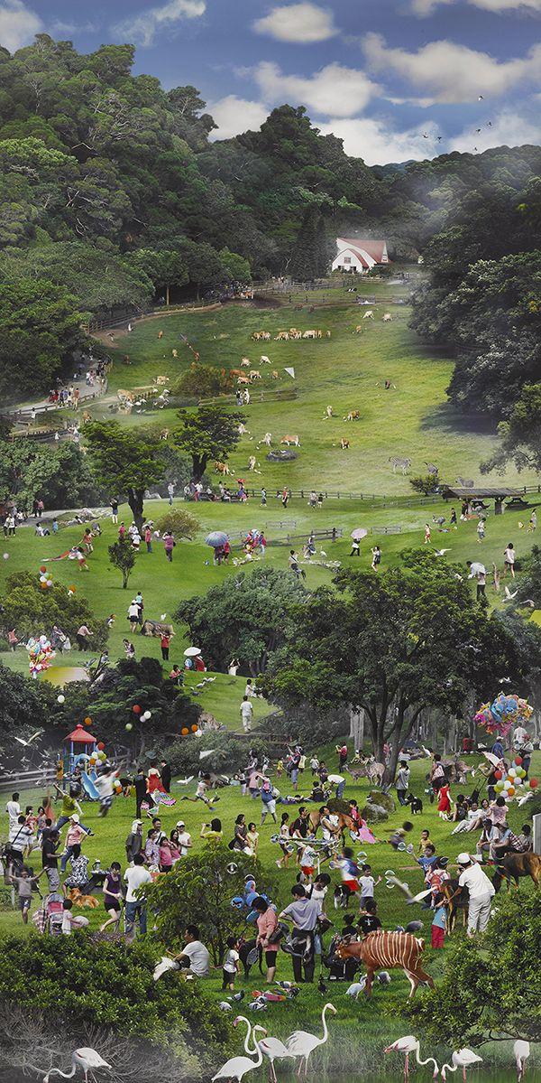 盛夏行旅圖 翁銘邦 攝影 217x110x5cm