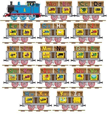 Thomas the Tank Engine Alphabet Train Floor Puzzle by Ravensburger. $14.99. Thomas the Tank Engine Alphabet Train Floor Puzzle. All Aboard! Here comes the Thomas abcd train to teach you the alphabets. Create an alphabet train with Thomas the Tank Engine! Children love to learn the Alphabet from A to Z with Thomas & Friends! This