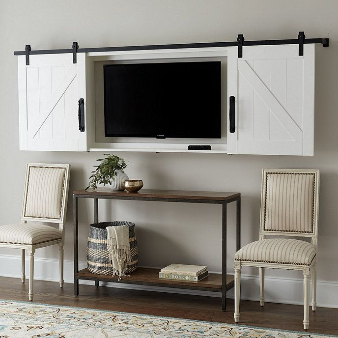 Barn Door Tv Wall Cabinet Ballard Designs Tv Wall Cabinets Living Room Tv Wall Cabinet