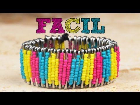 ▶ ¡¡Haz tus propias pulseras FÁCIL!! | Manualidades para regalar | Brazaletes en casa - YouTube
