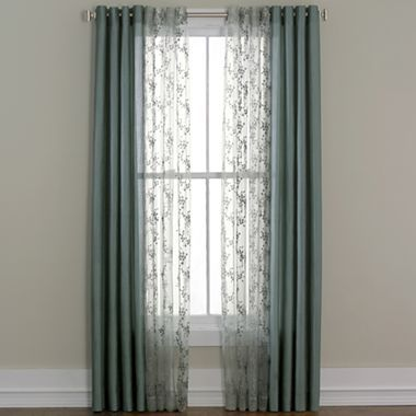 Cindy Crawford Style Meridian Grommet Top Sheer Panel Jcpenney Basement Great Room Pinterest
