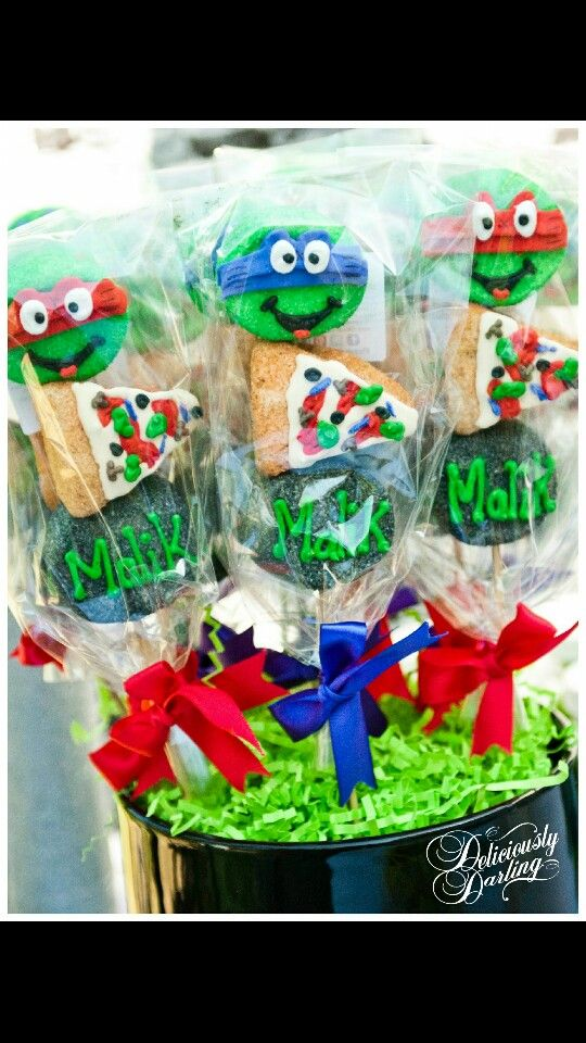 Marshmallow or cake pops; TMNT birthday!