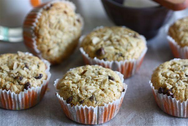 oat orange choc chip muffins