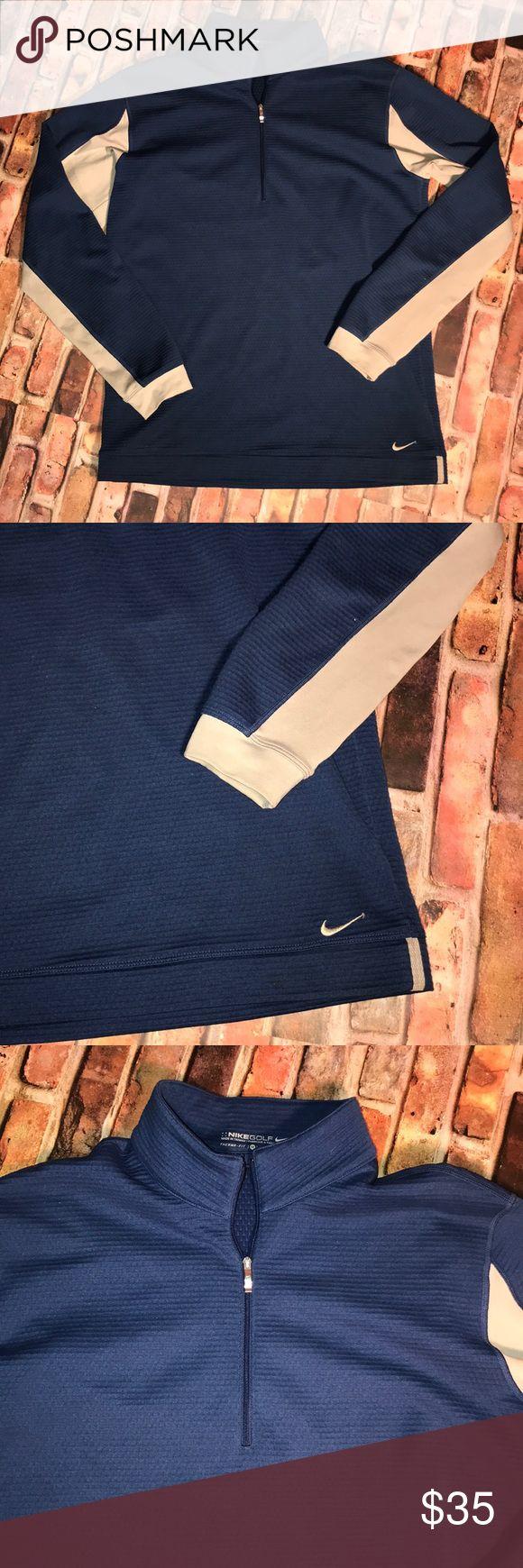 Men's Nike golf jacket (M) Men's blue and light gray Nike golf jacket therma fit size M. Nike Jackets & Coats Performance Jackets