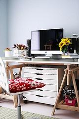 ikea desk: Interior, Studio Spaces, Creative Spaces, Room Decor, Art, 659 Photos