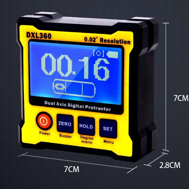 eu DXL360 Dual Axis Digital Angle Protractor with 5 Side Magnetic - Tomtop.com