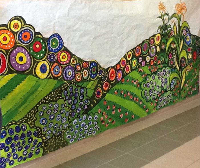 36 best cafeteria wall murals images on pinterest wall for Elementary school mural ideas