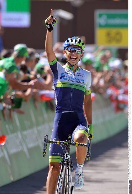 Yeah! Johan Esteban Chaves (Orica-GreenEdge) wins in Verbier Tour de Suisse 2014 Photo credit © tdwsport