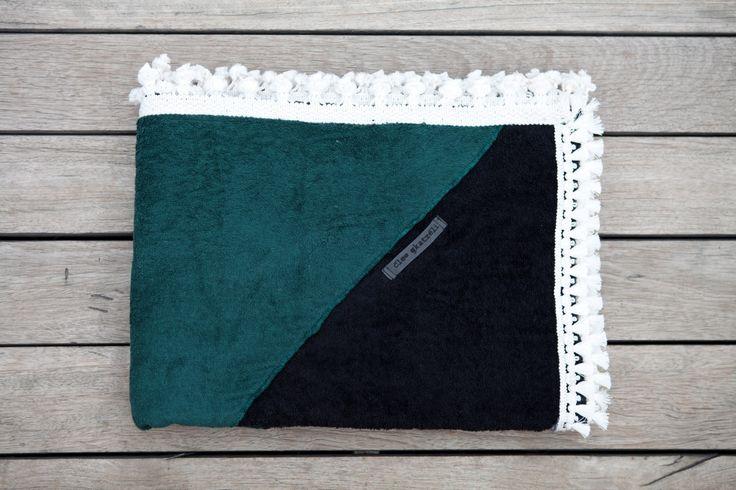 """Aztec Pattern Beach Towel""- a unique handmade beach towel by Cleo Gkatzeli"