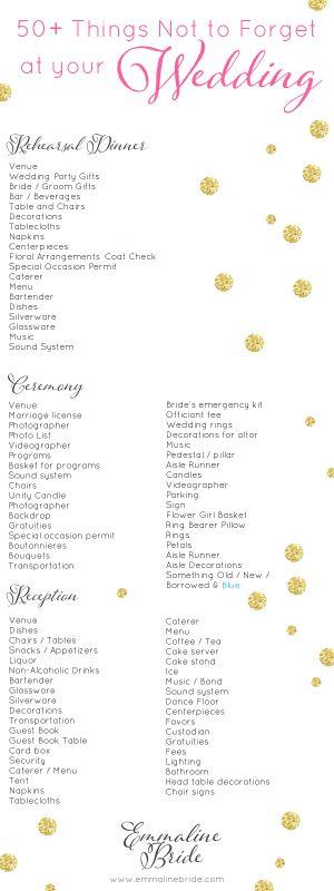Best 25+ Wedding day checklist ideas on Pinterest | Wedding ...