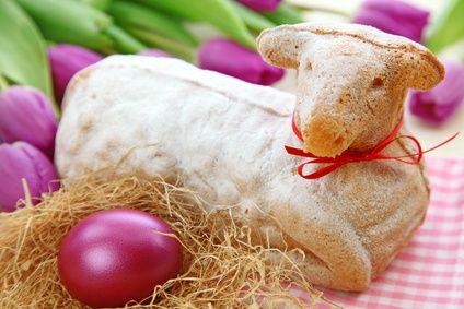 Velikonoční nugátový beránek