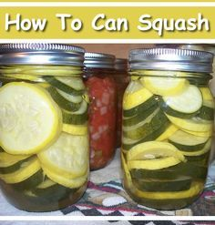 Canning Squash - store your summer squash for the winter months... #canning #homesteading