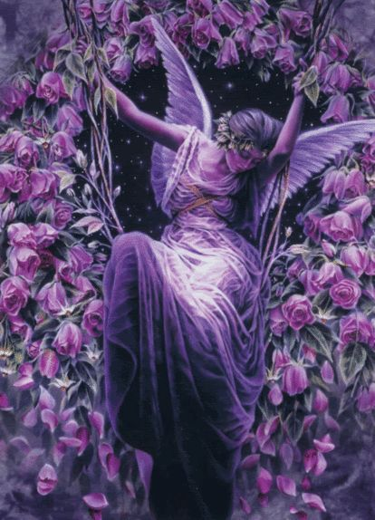 Purple Fantasy Swinging @Alex Jones Jones Atkinson esterly I wanna a purple swing like this in backyard!