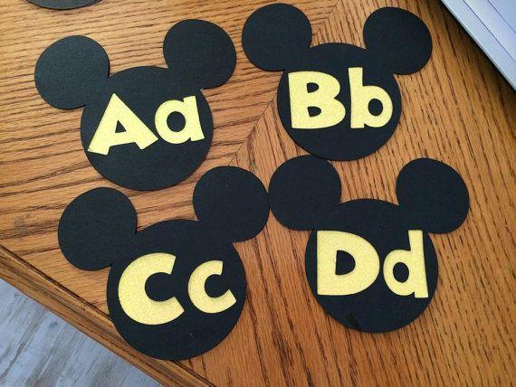 Mickey Word Wall Letters Disney Classroom by 2ndGradeMousekeeter, $19.99