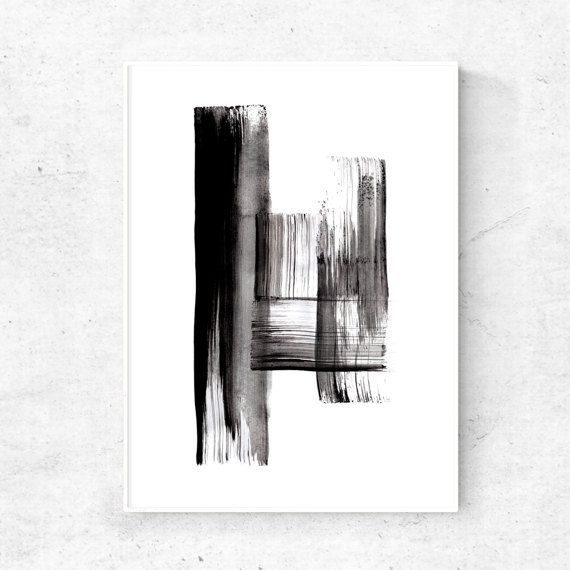 abstract black and white wall art 18x24 print by dyastudio on etsy