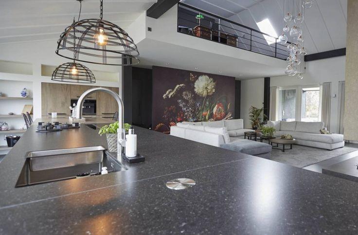 Moderne keuken met kookeiland | Houtwerk Hattem