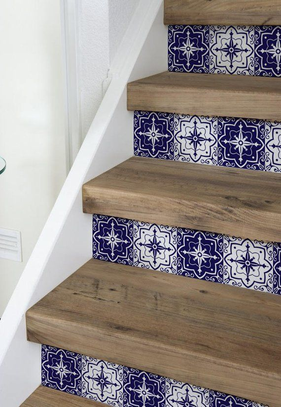 10 Strips Of Stair Riser Mexican Removable Sticker Peel Stick Staircase Decor Staircase Decals Removable Star Riser Decals S 7 Staircase Decor Staircase Decals Stair Risers